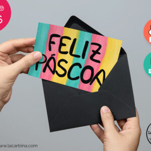 Feliz Pascoa Greeting Card