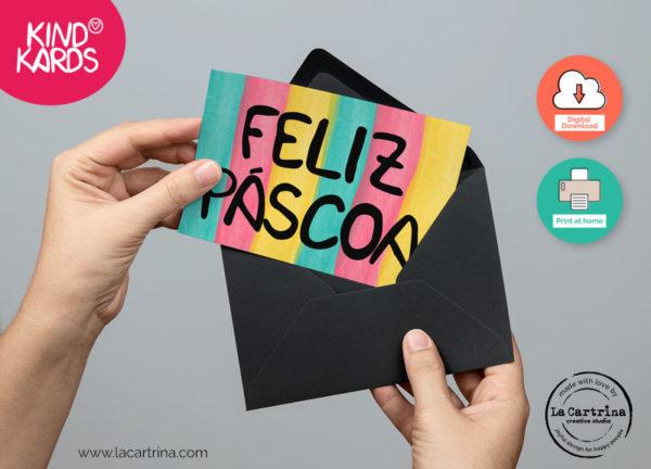 Feliz Pascoa Greeting Card